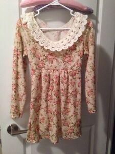 Floral white dress tunic
