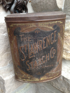 VINTAGE ST LAWRENCE STARCH PORT CREDIT ONTARIO ROYAL TIN