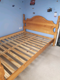 Solid pine kingsize bed frame