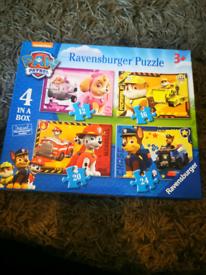 Paw patrol 4 Puzzles 12,16,20,24 pieces