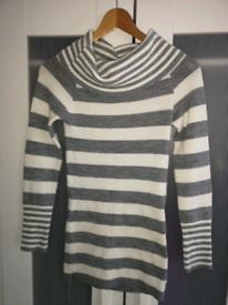 Stripey roll neck jumper