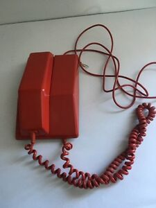 Vintage Red Rotary Telephone for SALe