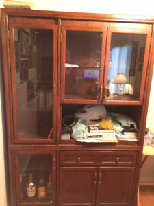 Beautiful display cabinet with glass doors  BEST OFFER