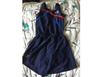 Boys leotard and shorts gymnastic outfit size 32