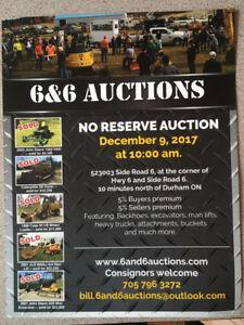 No Reserve Heavy Equipment Auction Sat Dec 9, 2017 10:00 am