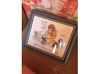 Winny the pooh frame and picture hand made