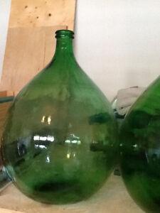 1 Green Demi-John