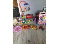 Bundle of toys walker cot mobile