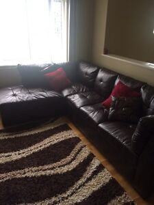 L Faux Leather couch