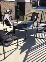 Dark grey patio set gluckstein brand