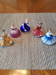 5 MINIATURE ROYAL DOULTONS