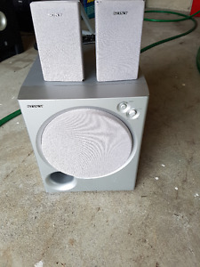 Sony Subwoofer with Two FREE Speakers for Sale