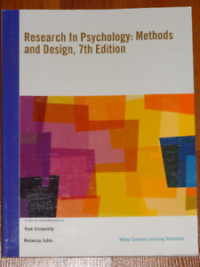 Research in Psychology 7th Edition by Goodwin