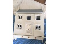 Wall hanging dolls house with furniture