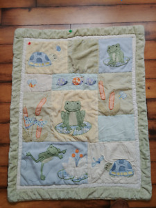 Warm Baby Blanket (Frog décor)