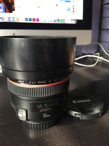 Objectif Canon 50mm f/1.2 Lens