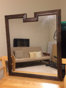 2 large wooden mirrors for sale