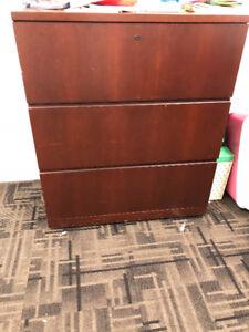 Wood Filing Cabinets x2