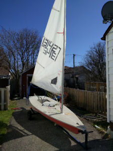 Laser Radial Sailboat with Trailer and Dolly