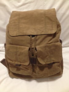 Mens Fossil Canvas/Leather Brown Back Pack