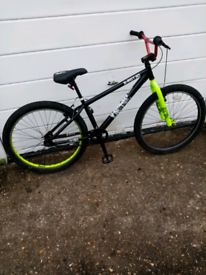 X rated jump bike, 26 inch wheels, cost £175 in halfords still 👍👍👍
