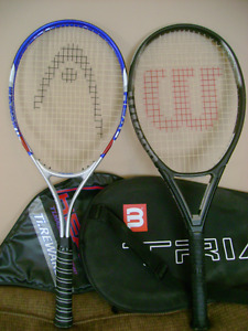 Head and Wilson Tennis racquet with cover