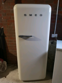 Smeg cream fridge