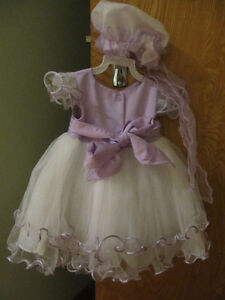 Purple tou-tou dress for Baby Girl 3-6 months & Ballerina Shoes West Island Greater Montréal image 3