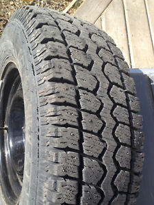 studded winter tires on rims for toyota