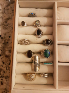 Lot of sterling silver rings for sale!