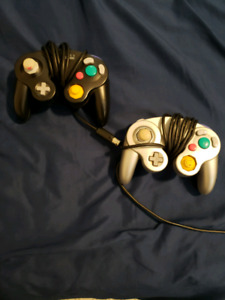 Two first party gamecube controllers