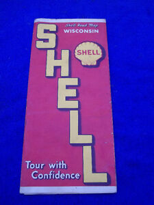 1939 SHELL ROAD MAP [ WISCONSIN ]