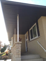 "Seamless 5"" eavestrough, Facia, Soffit, Siding And Capping"
