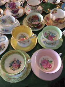 For sale fine bone china C&S at $ 19 a pair by Aynsley, Coalport