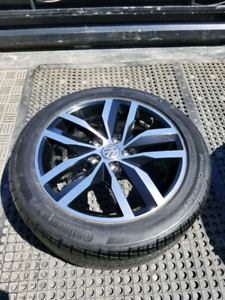 BNEW 225 45 17  Continental tires on OEM VW Golf alloys 5x112