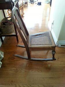 Antique bedroom chair / Antique child's rocker