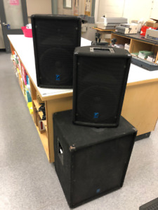 Yorkville Sound Elite Series Speakers and 18 Inch Sub