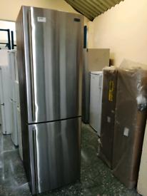 Rangemaster fridge freezer silver 3 months warranty at Recyk
