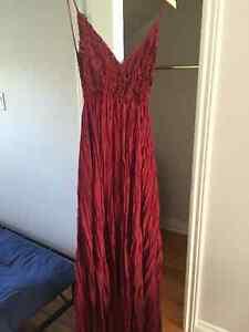 Beautiful merlot size medium, long dress perfect for weddings!
