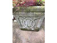 Aged Stone Planters x 2