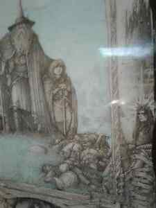 Rare Lord of the Rings  on Wood -Few in the WORLD MADE Windsor Region Ontario image 10