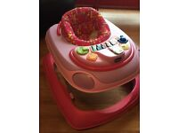Chicco pink baby walker excellent condition