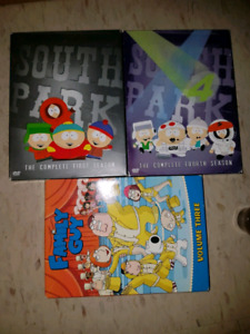Family Guy & South Park DVD Lot ($10 for all)