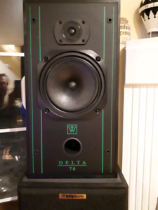 Wharfdale Delta 70's & matching metal stands