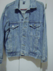 Denim Jacket With Eagle & Bike On The Back--$60.00 TODAY!