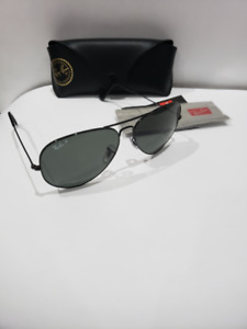 Ray Ban Aviator Classic3025 002/58 Black polarized 62mm