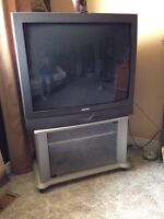 TV and stand, Best offer! About 30 inches.