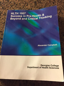 Success in Pre-Health & Beyond and Critical Thinking. HLTH 1007