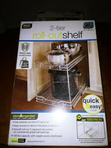 2-Tier Under Cupboard Roll-Out Shelves