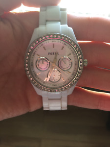 Fossil Womens Watch - White